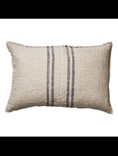 Affari of Sweden Cushion cover 100% linen - Natural- Grey - 40x60cm