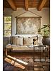 Petite Lily Interiors Lit de jour Indien Charpoy - bois et corde blanc - L185xW90xH40cm