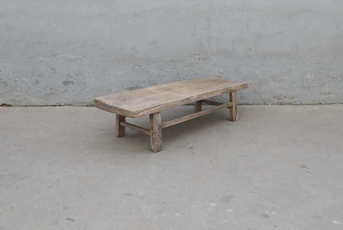 Maisons Origines Coffee table vintage Raw Wood - 120X43X30cm - unique piece