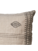 Affari of Sweden Housse de coussin FERNANDO 100% lin - Gris Naturel - 50x50cm