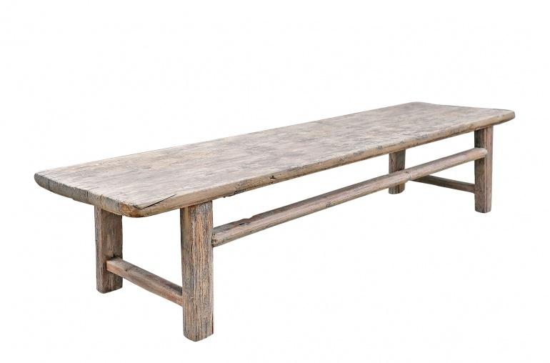 Maisons Origines Coffee table vintage Raw Wood - 210X56X45cm - unique piece