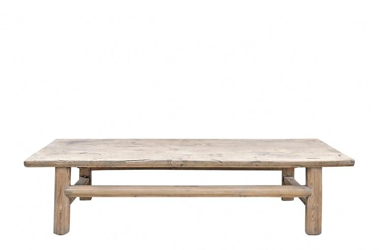 Maisons Origines Coffee table vintage Raw Wood - 170x59x42cm - unique piece