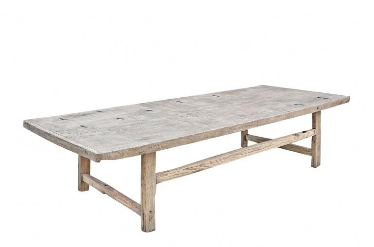 Maisons Origines Table basse bois brut - 194x79x45cm - pièce unique