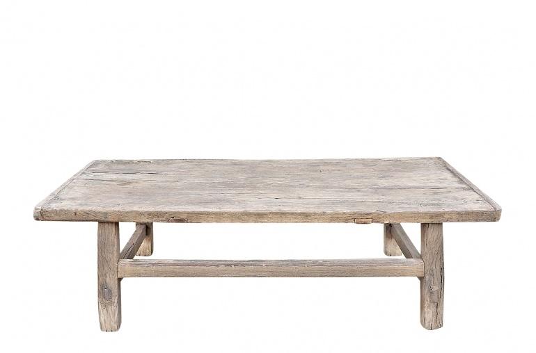 Maisons Origines Coffee table vintage Raw Wood - 98x51x31cm - unique piece