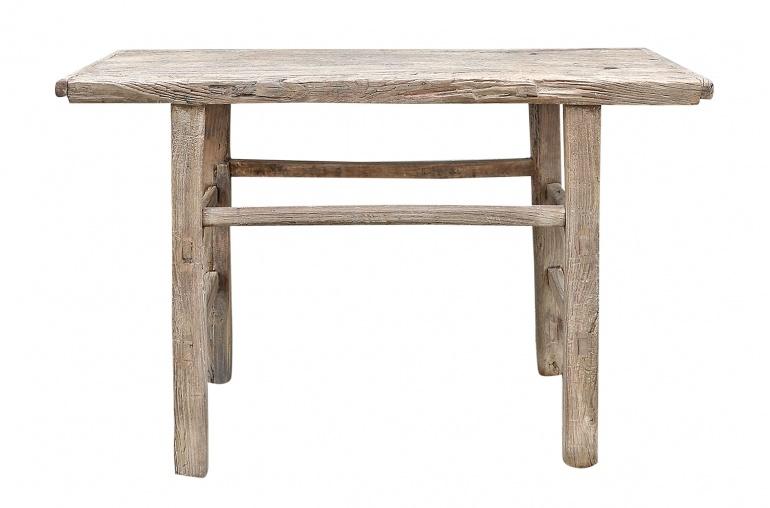 Petite Lily Interiors Table console vintage en Bois brut - 115x66xh75cm - Piece Unique