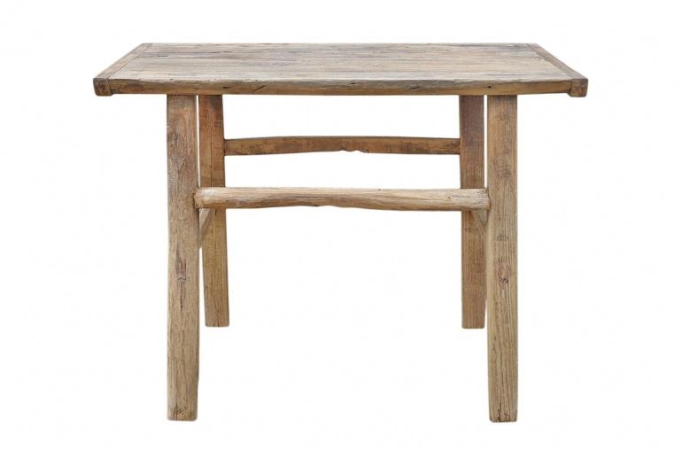 Petite Lily Interiors Table console vintage en Bois brut - 92x55x73cm - Piece Unique