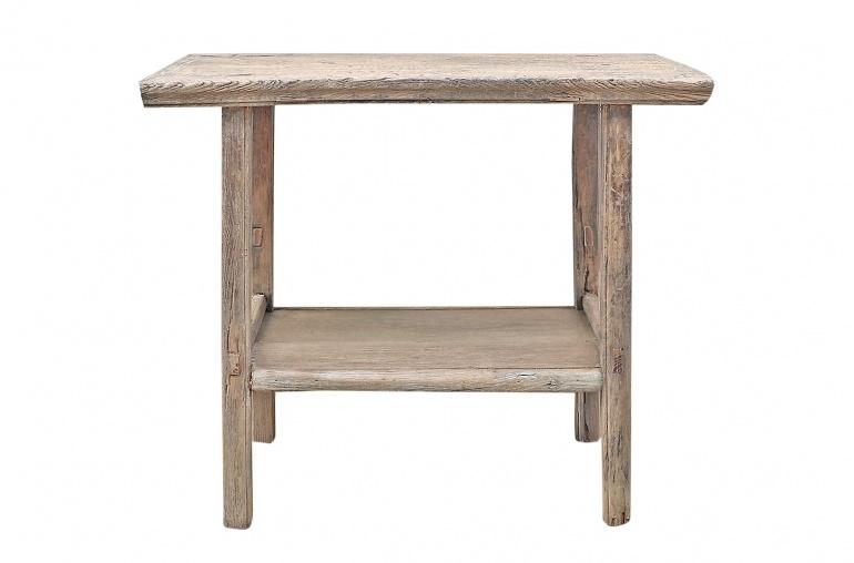 Petite Lily Interiors Table console vintage en Bois brut - 92x47x80cm - Piece Unique