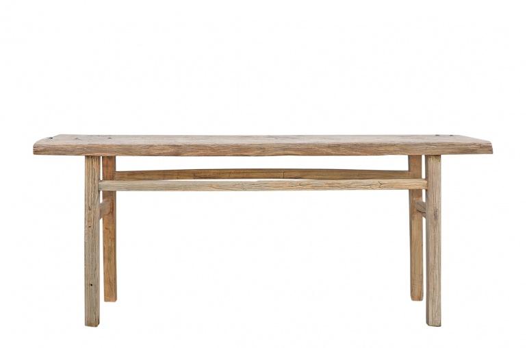 Petite Lily Interiors Table console vintage en Bois brut - 203x40x85cm - Piece Unique