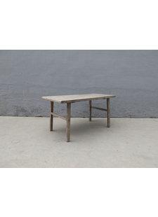 Maisons Origines Table de salle à manger - bois noyer brut - 155x78xH80cm