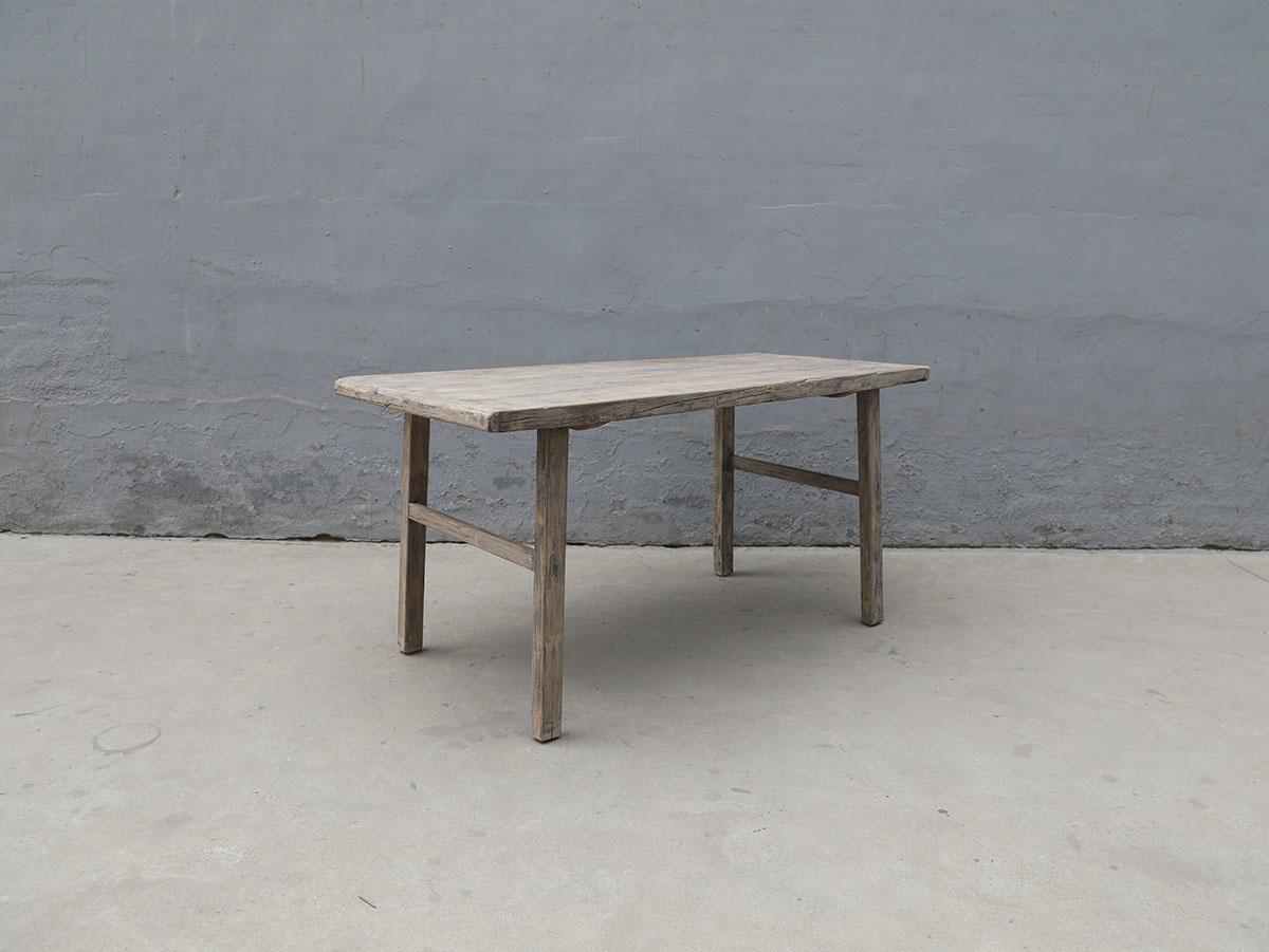 Maisons Origines Table de salle à manger - bois noyer brut  - 155x78xH80cm  - Piece Unique