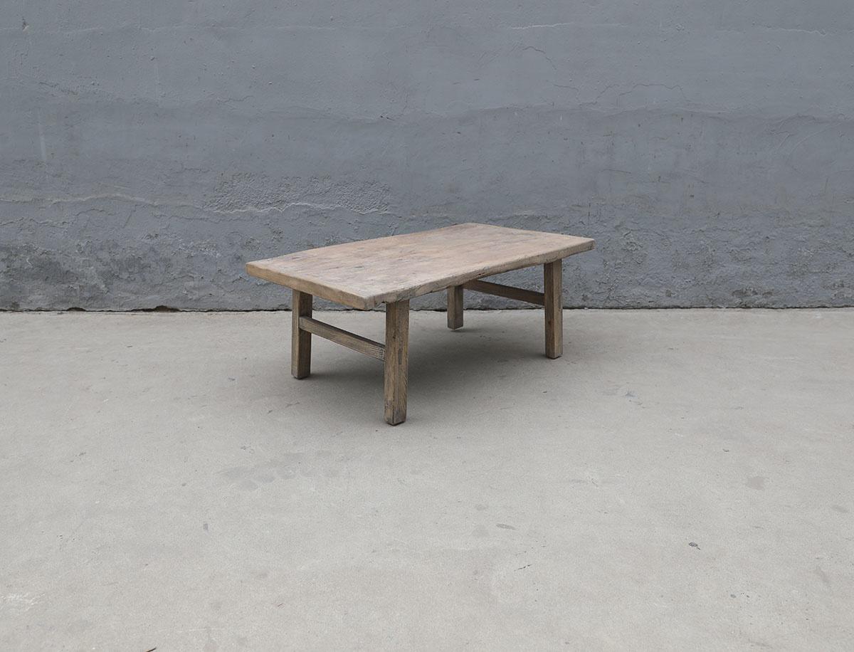 Maisons Origines Raw wood coffee table - 113X64X44cm - recycled Walnut wood