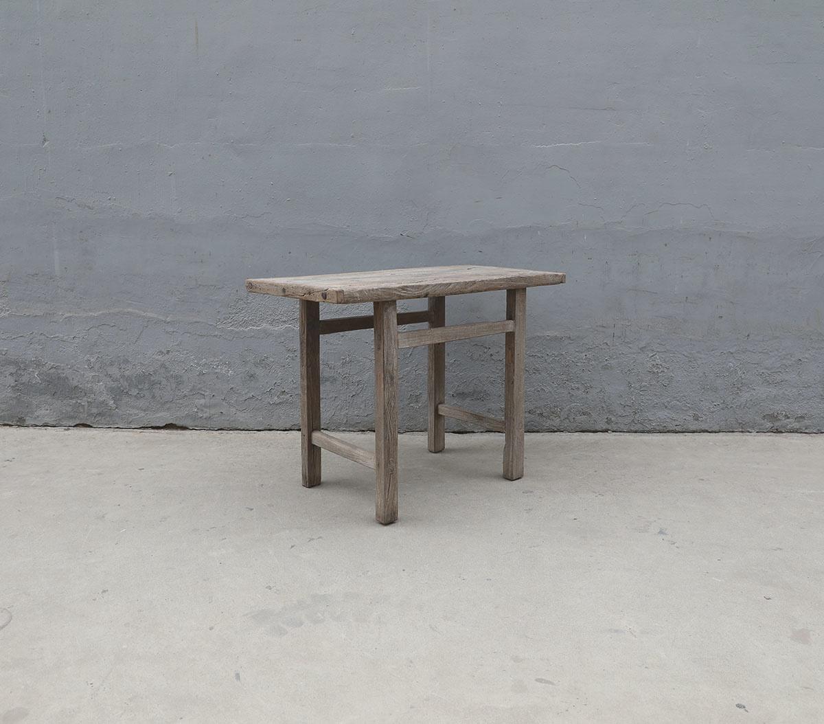 Maisons Origines Table console vintage en Bois d'orme - Piece Unique - 107X54X79cm