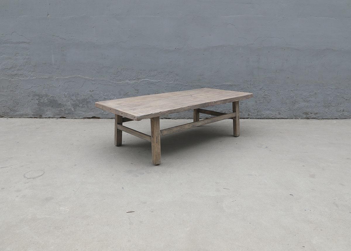 Maisons Origines Raw wood coffee table - 143X69X44cm - recycled Walnut wood