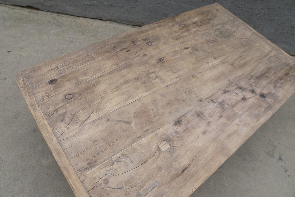 Maisons Origines Table basse vintage / bois brut - 133X75X44cm - noyer brut