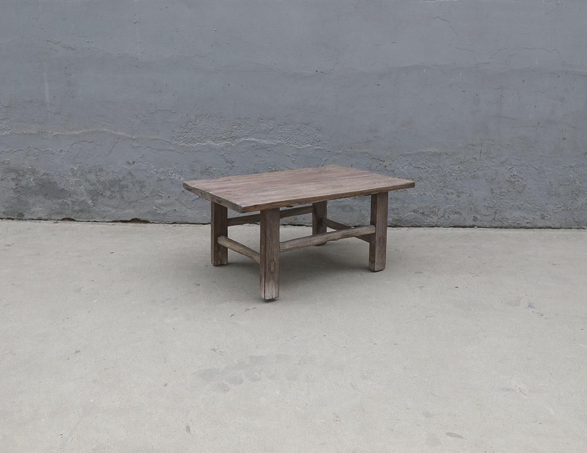 Maisons Origines Coffee table vintage Raw Wood - 88X58X42cm - unique piece