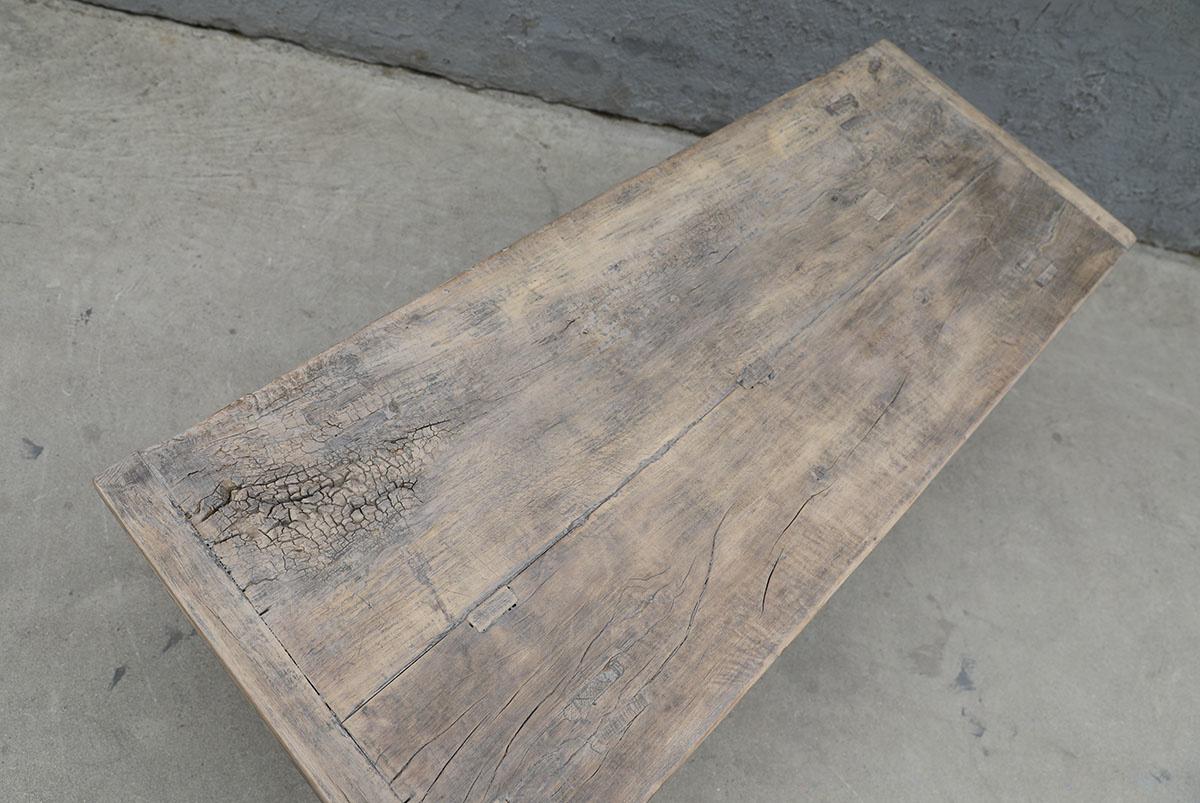Maisons Origines Table basse vintage en Bois peuplier - 125x49xh44cm - Piece Unique