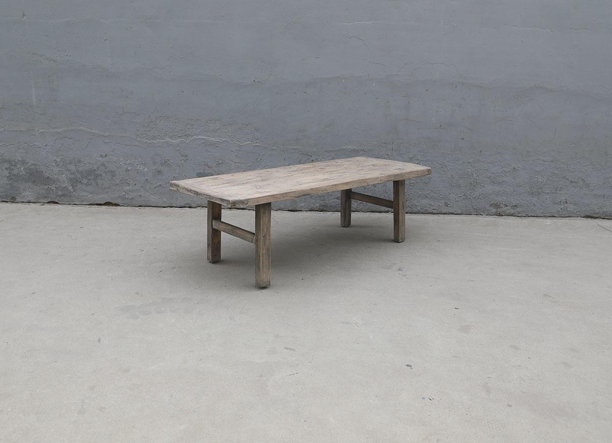 Maisons Origines Raw wood coffee table - 137X54X43cm - recycled Walnut wood