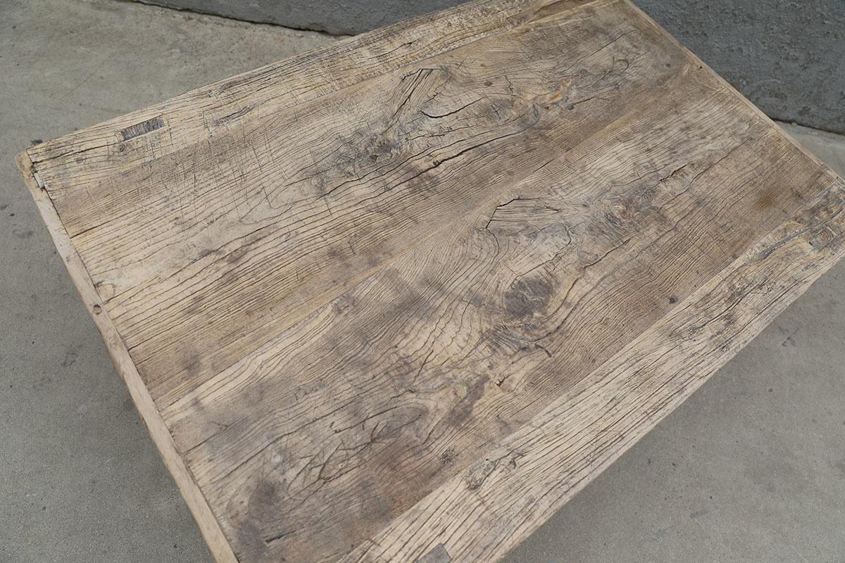 Maisons Origines Coffee table vintage Raw Wood - 107X72X46cm - unique piece