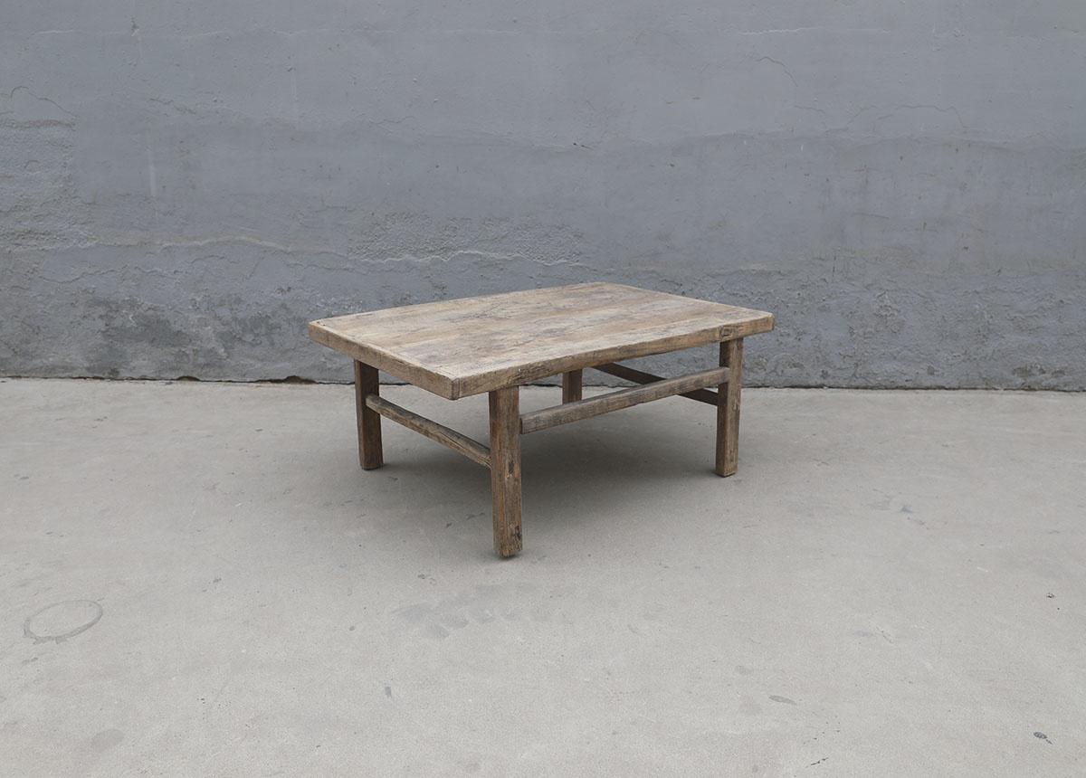 Maisons Origines Table basse bois brut - 107X72X46cm - pièce unique
