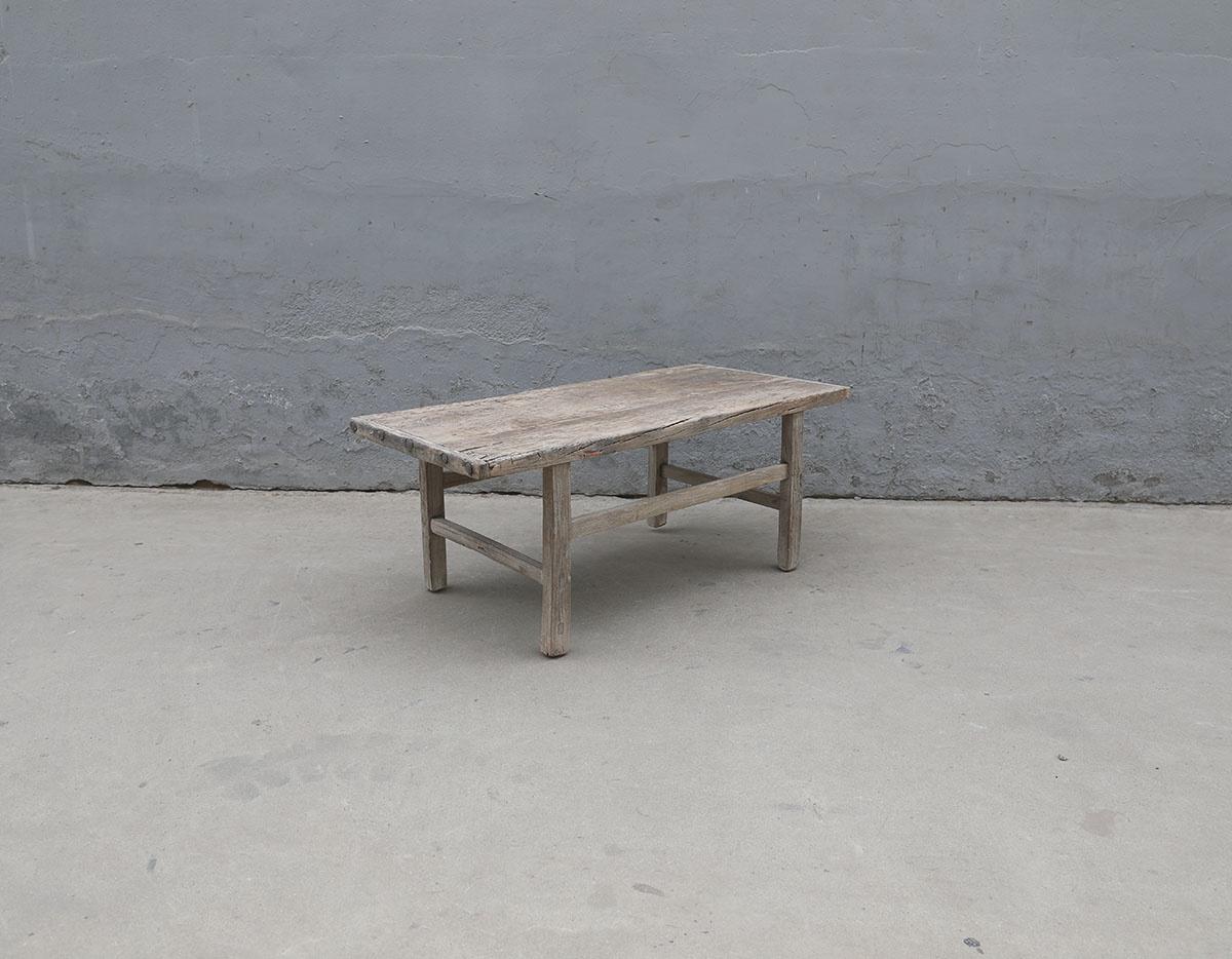 Maisons Origines Table basse bois brut - 107X50X44cm - pièce unique