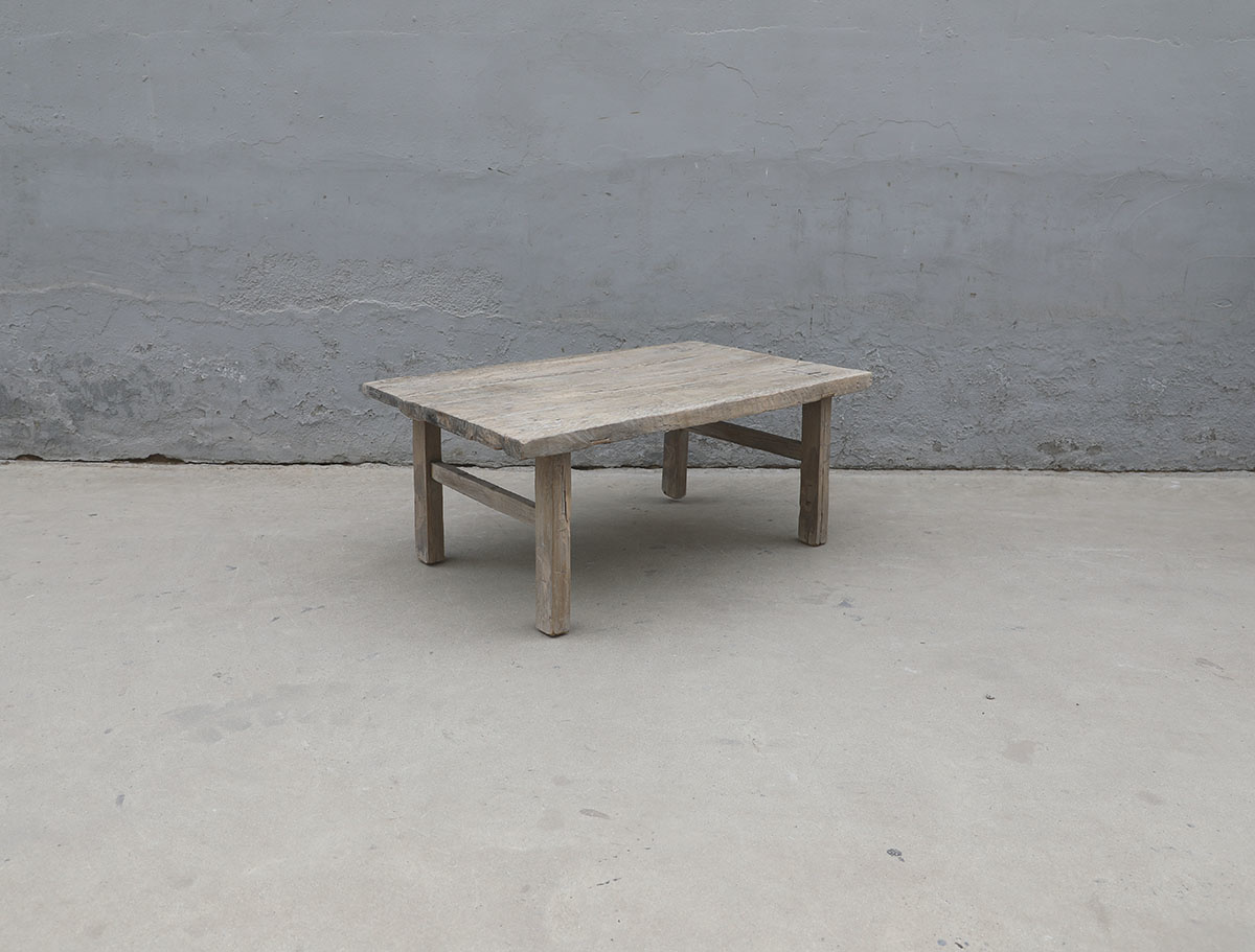Maisons Origines Table basse vintage / bois brut - 101X63X42cm - noyer brut