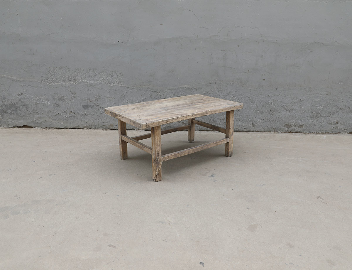 Maisons Origines Coffee table vintage Raw Wood - 94X55X42cm - unique piece