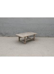 Maisons Origines Table basse vintage en Bois peuplier - 104x58xh39cm