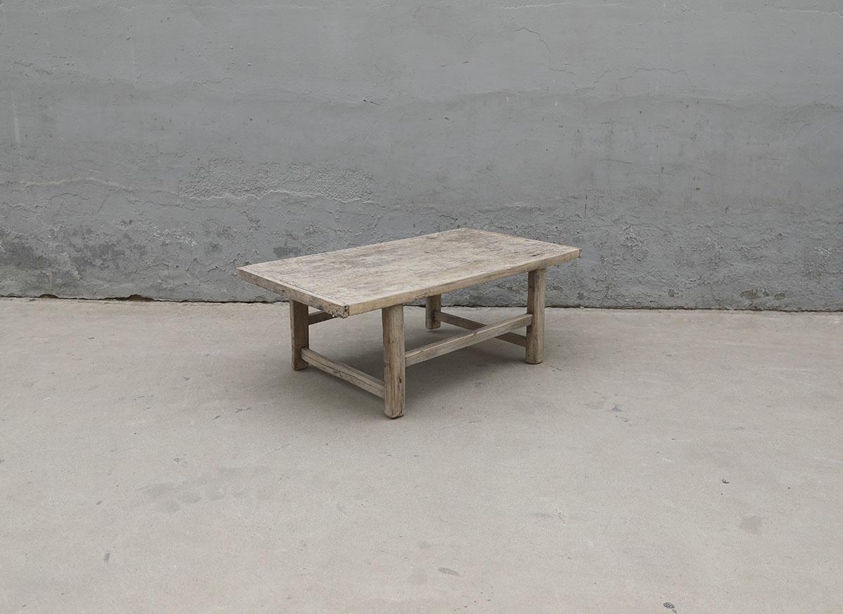 Maisons Origines Table basse vintage en Bois peuplier - 104x58xh39cm - Piece Unique