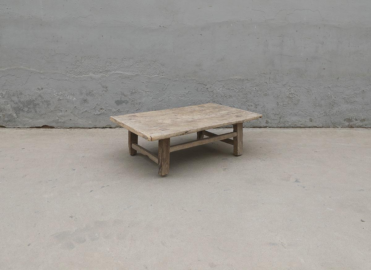 Maisons Origines Coffee table vintage Raw Wood - 90X58X29cm - unique piece