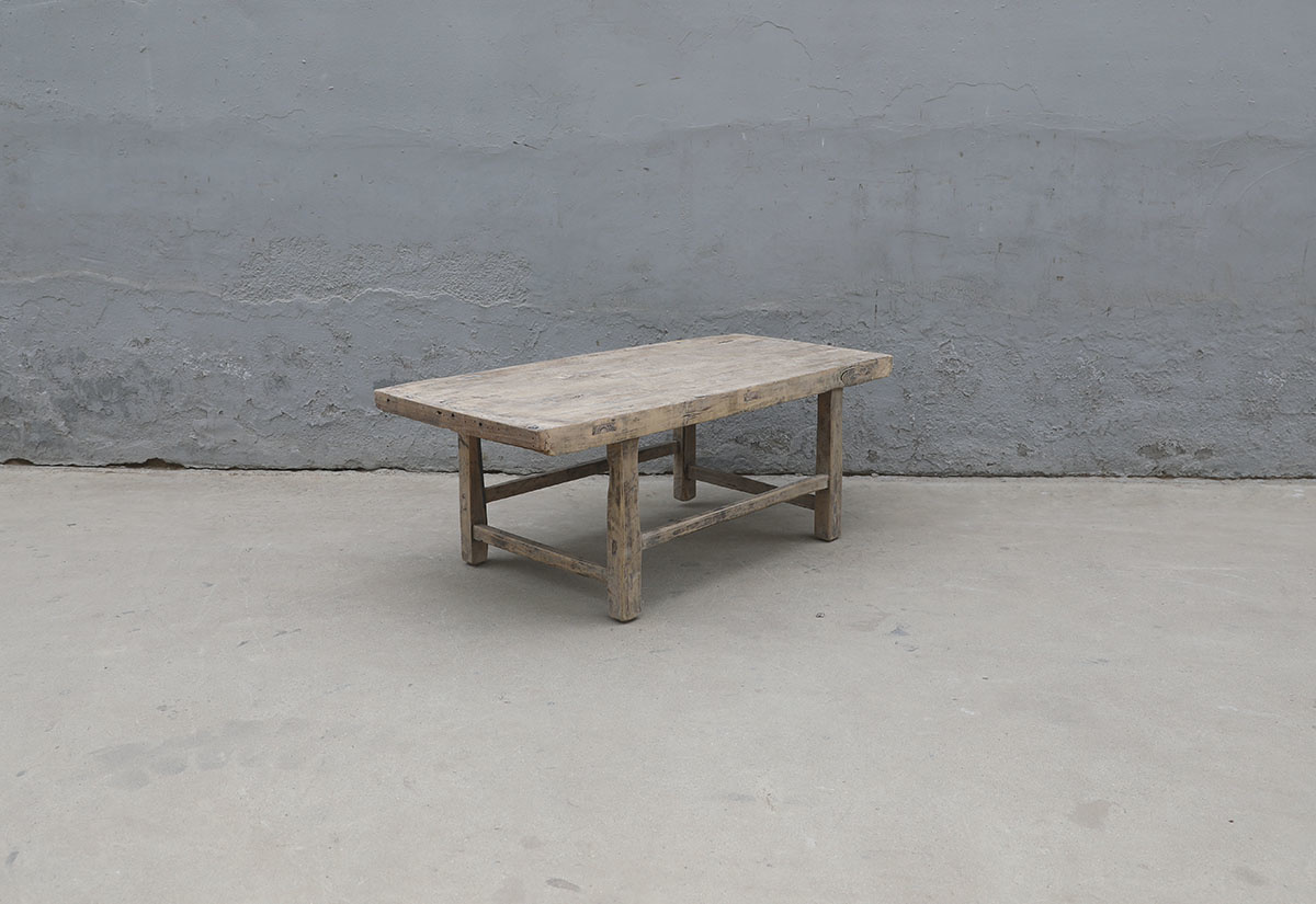 Maisons Origines Coffee table Vintage - 106X52X41cm - Poplar wood - unique product