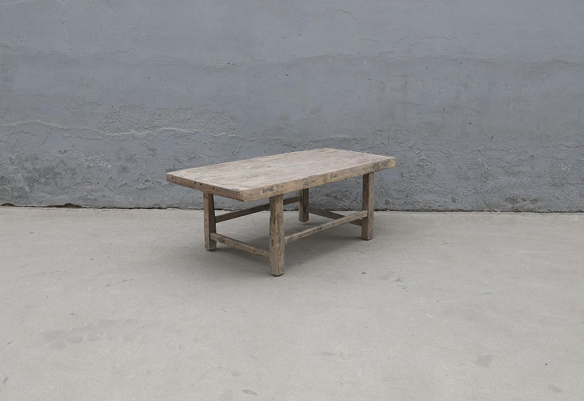 Maisons Origines Table basse vintage en Bois peuplier - 106X52X41cm - Piece Unique