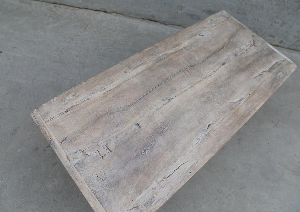 Maisons Origines Table basse vintage / bois brut - 118X53X38cm - noyer brut
