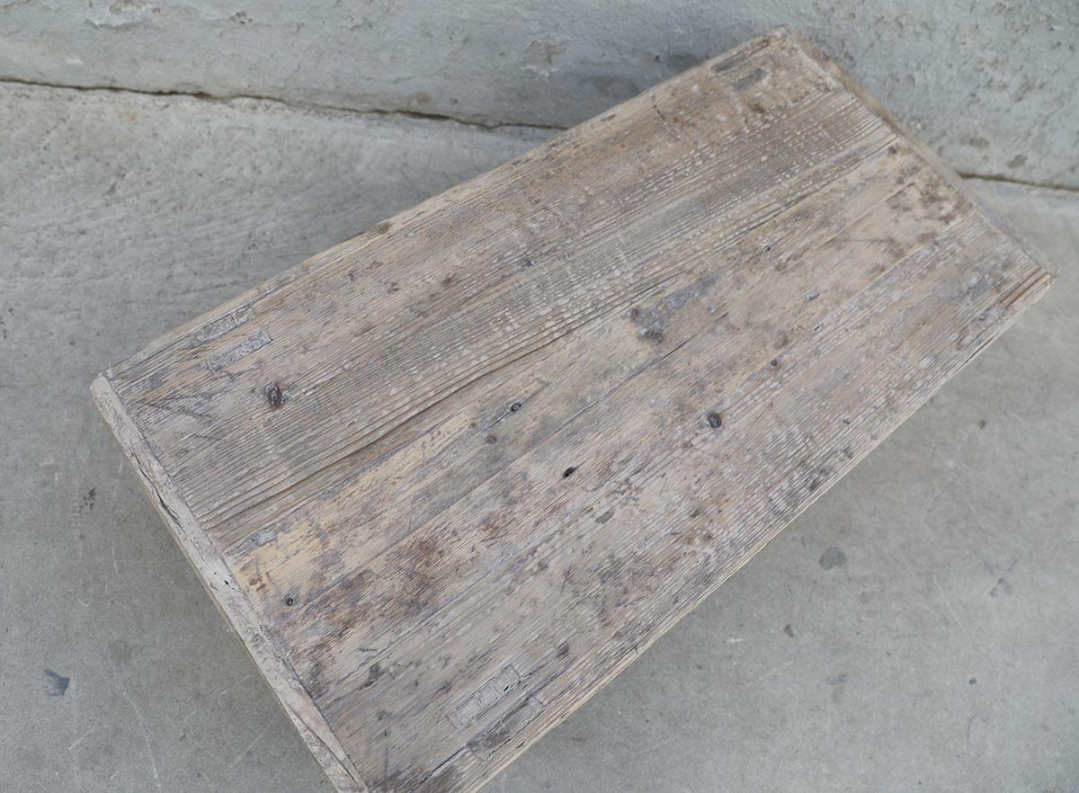 Maisons Origines Table basse naturelle en bois brut - 98X49X33cm