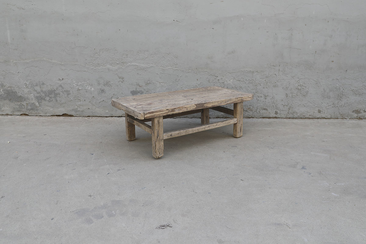 Maisons Origines Natural coffee table raw wood - 98X49X33cm