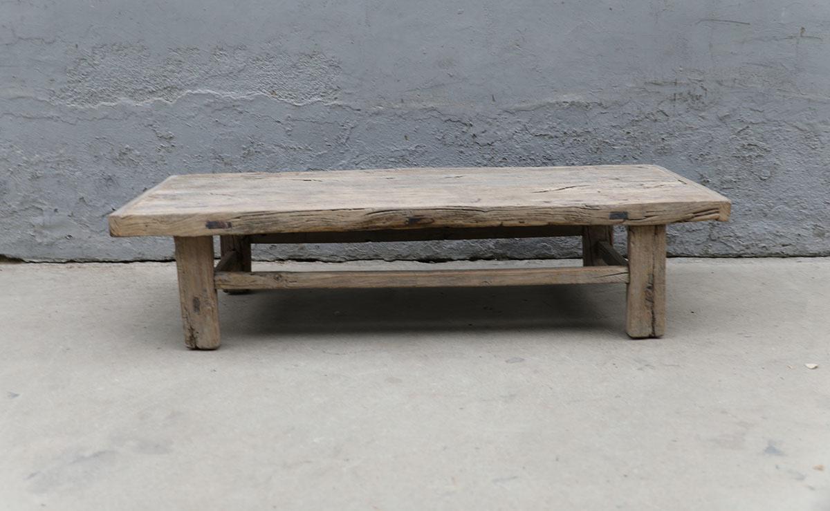 Maisons Origines Table basse bois brut - 130X50X30cm - pièce unique