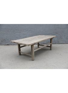 Maisons Origines Table basse bois d'orme - 125X66X42cm - pièce unique