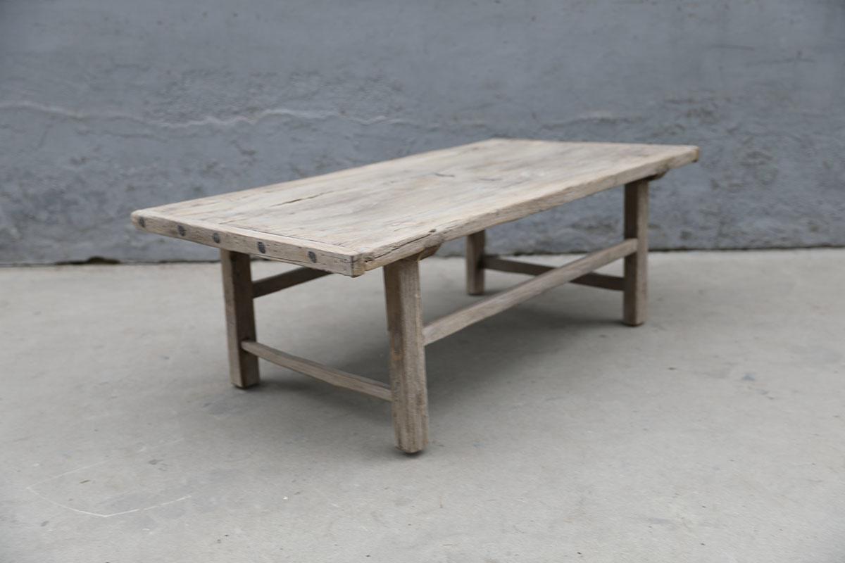 Maisons Origines Table basse bois brut - 125X66X42cm - pièce unique