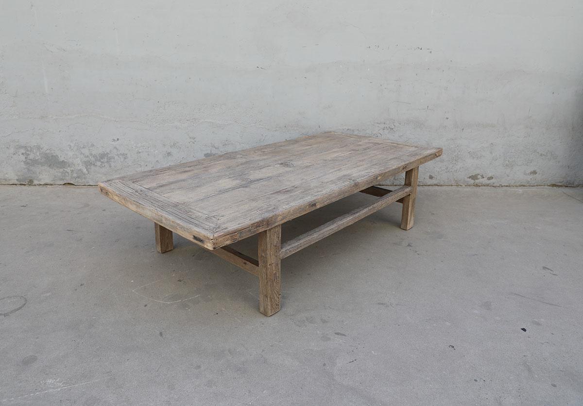 Maisons Origines Table basse naturelle en bois brut - 180X86X46cm