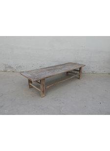 Maisons Origines Table basse bois d'orme - 196X61X46cm - pièce unique