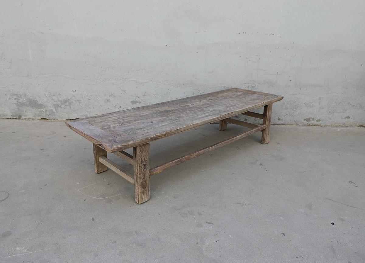 Maisons Origines Coffee table vintage Raw Wood -196X61X46cm - unique piece