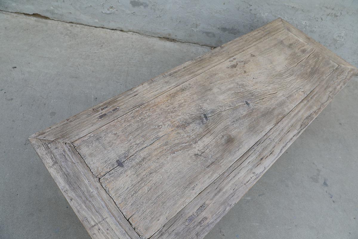 Maisons Origines Table basse bois brut - 160X58X41cm - pièce unique