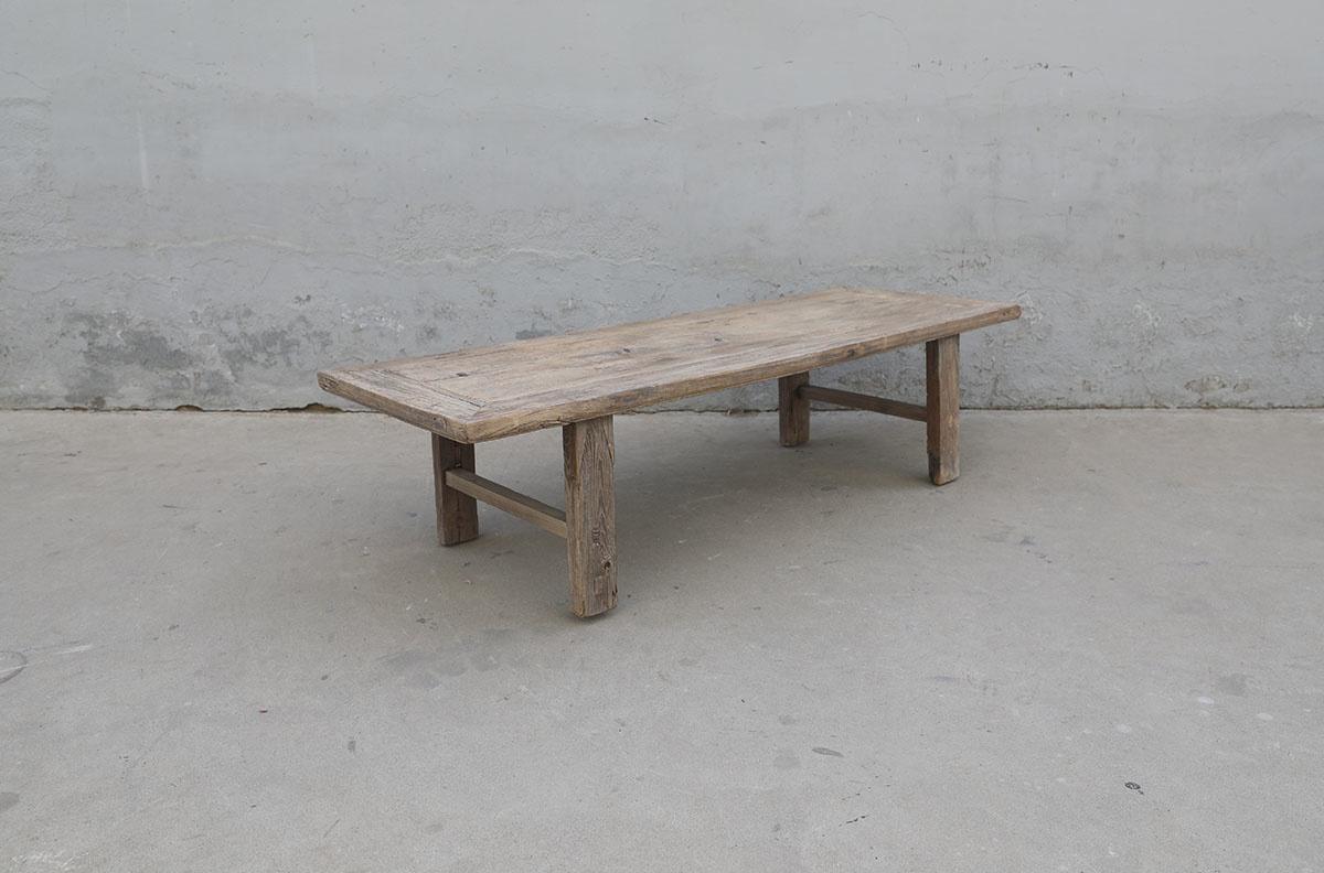 Maisons Origines Coffee table vintage Raw Wood -160X58X41cm - unique piece