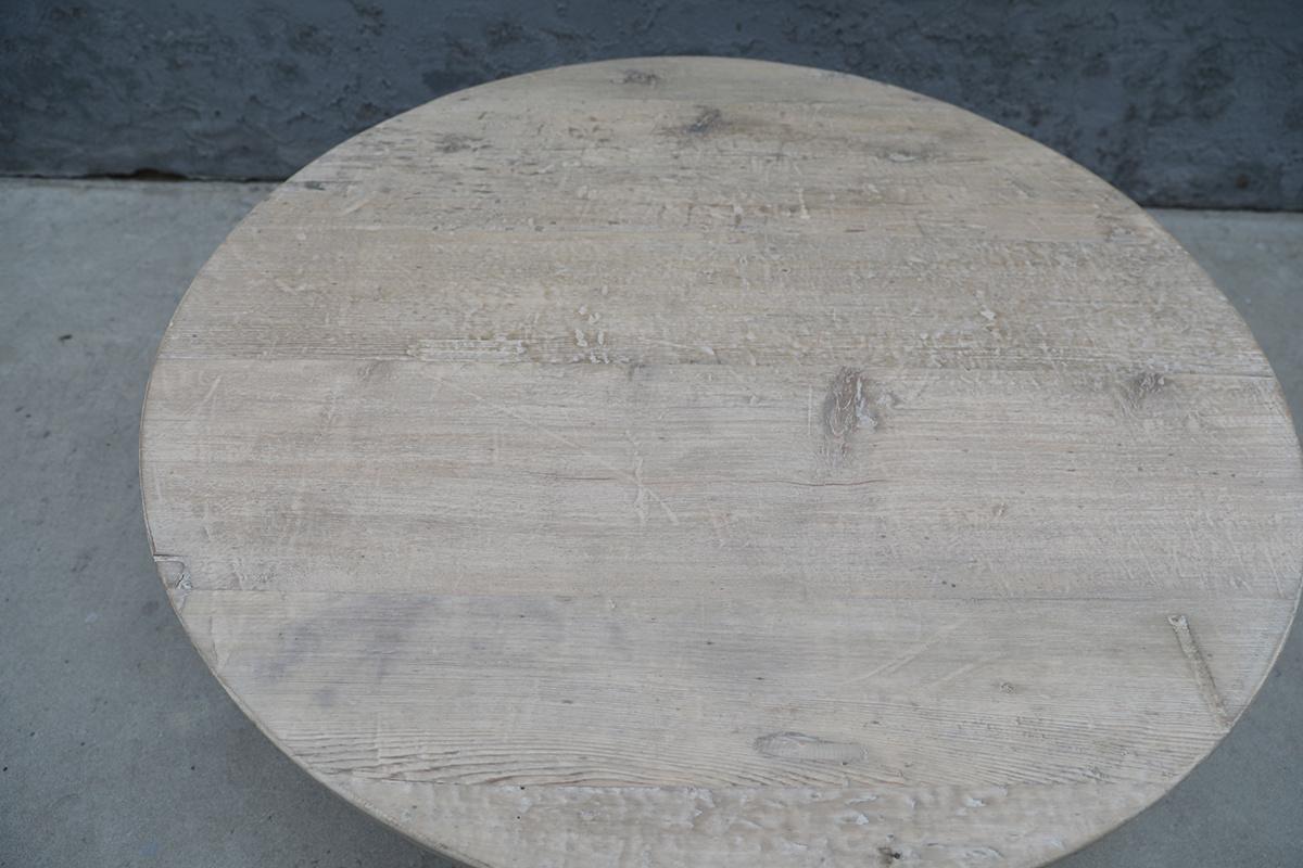 Maisons Origines Table basse bois brut - rond - Ø120xh46cm - pièce unique