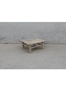 Maisons Origines Table basse bois d'orme - 66X53X27cm - pièce unique