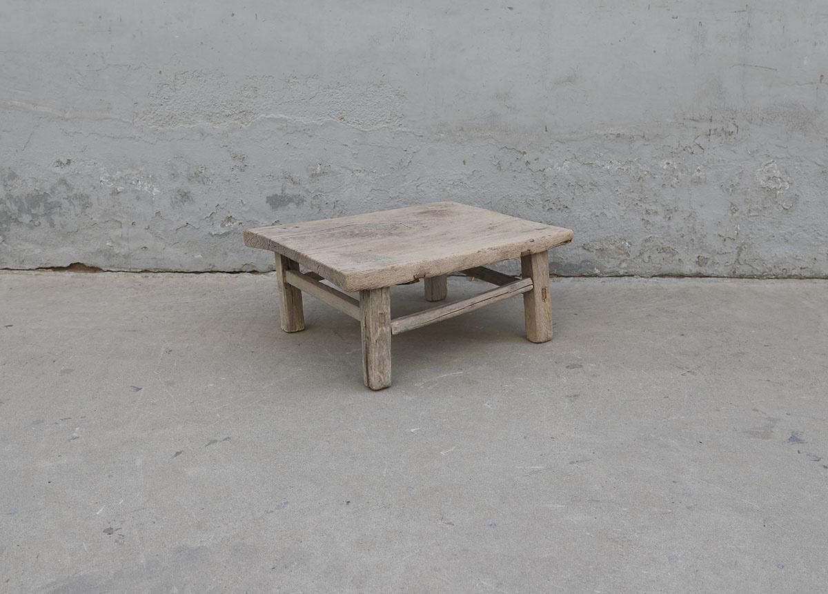 Maisons Origines Table basse bois brut - 66X53X27cm - pièce unique