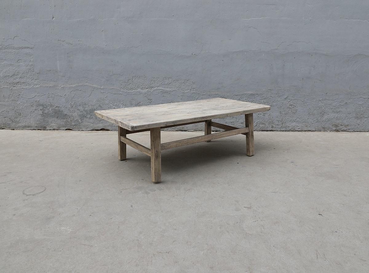Maisons Origines Table basse bois brut - 134X70X43cm - pièce unique