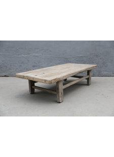 Maisons Origines Table basse bois d'orme - 124X60X32cm - pièce unique