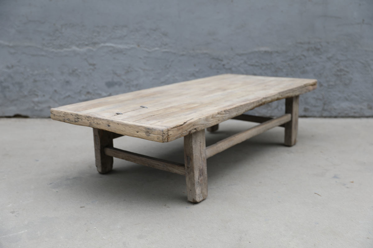 Maisons Origines Table basse bois brut - 124X60X32cm - pièce unique