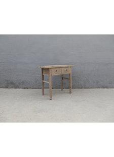 Maisons Origines Table console vintage en Bois brut - 105X45X87cm