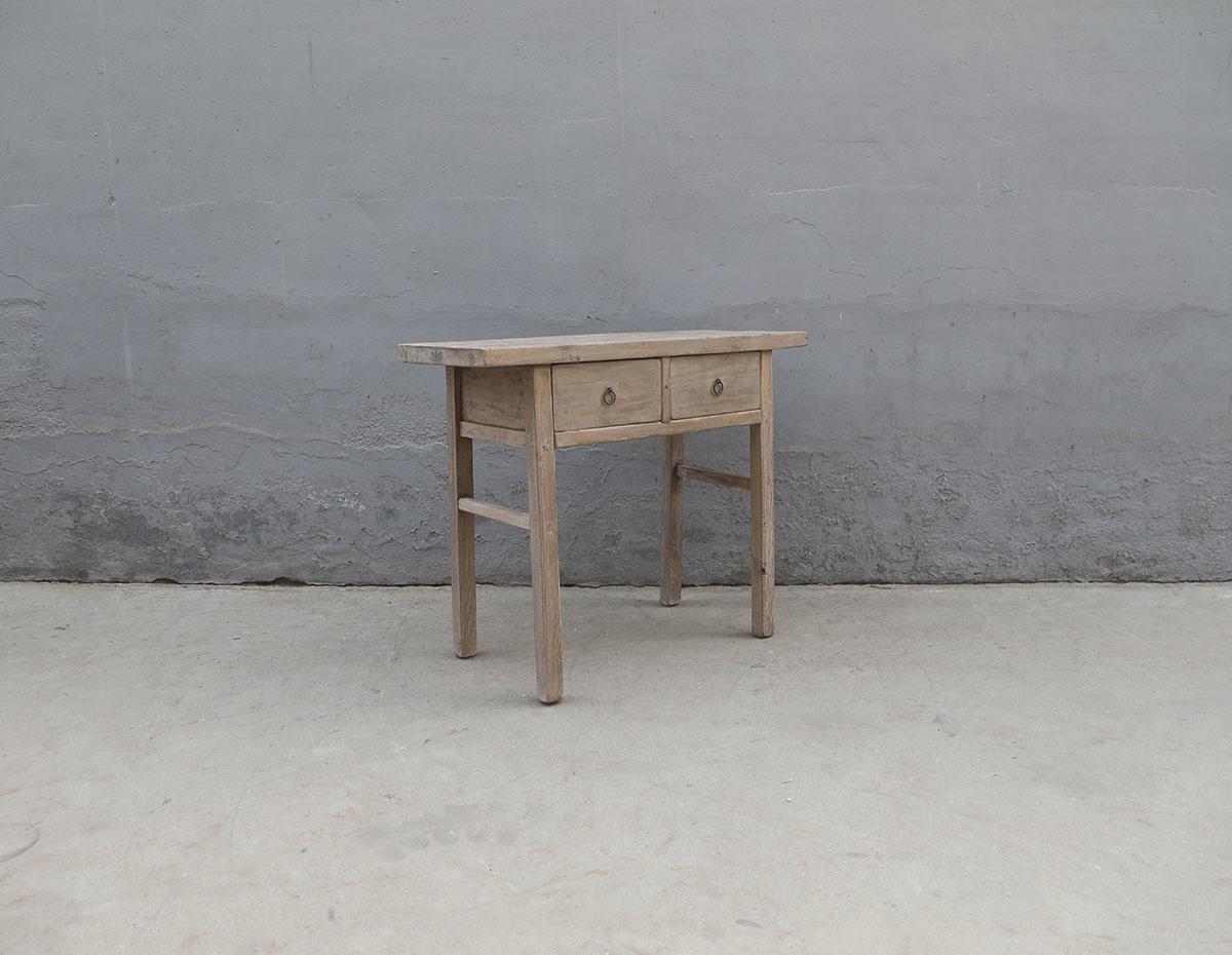 Maisons Origines Table console vintage en Bois brut - Piece Unique - 105X45X87cm